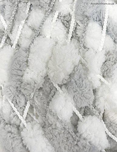 Rico Pompon Print - Grey/White (031)