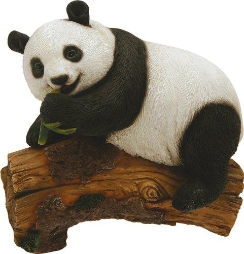 Panda Sur Tronc Cm.12,5 h.