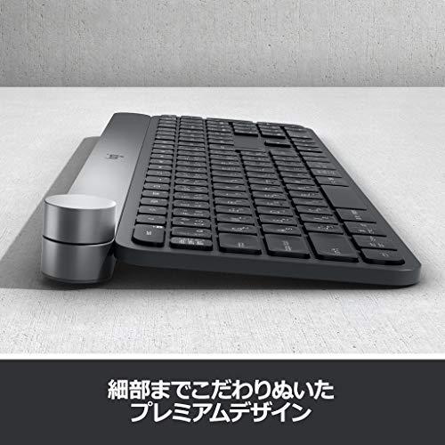 ロジクールキーボードワイヤレス無線KX1000sbluetoothCRAFTUnifyingWindowsMacワイヤレスキーボード薄型国内正規品2年間無償保証