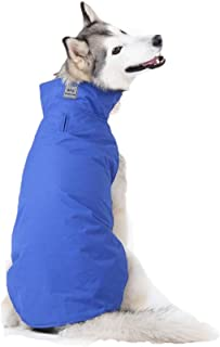 Jim Hugh Dog Jacket Clothes Waterproof Leash Hole Winter Large Dog Raincoat Outdoor Pet Coat for Fleece Lining