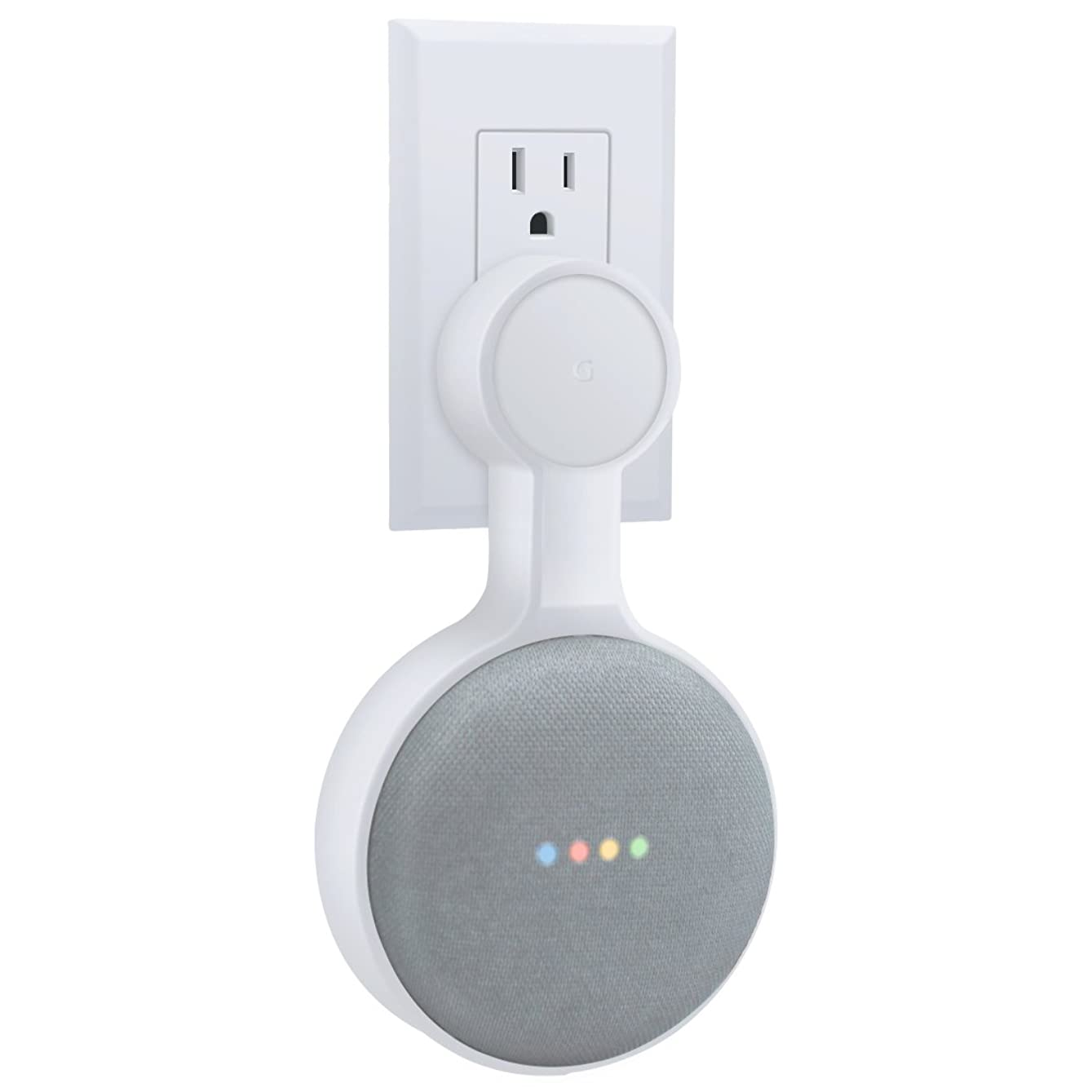 AMORTEK Outlet Wall Mount Holder for Google Home Mini, A Space-Saving Accessories for Google Home Mini Voice Assistant (White) czclpx187624