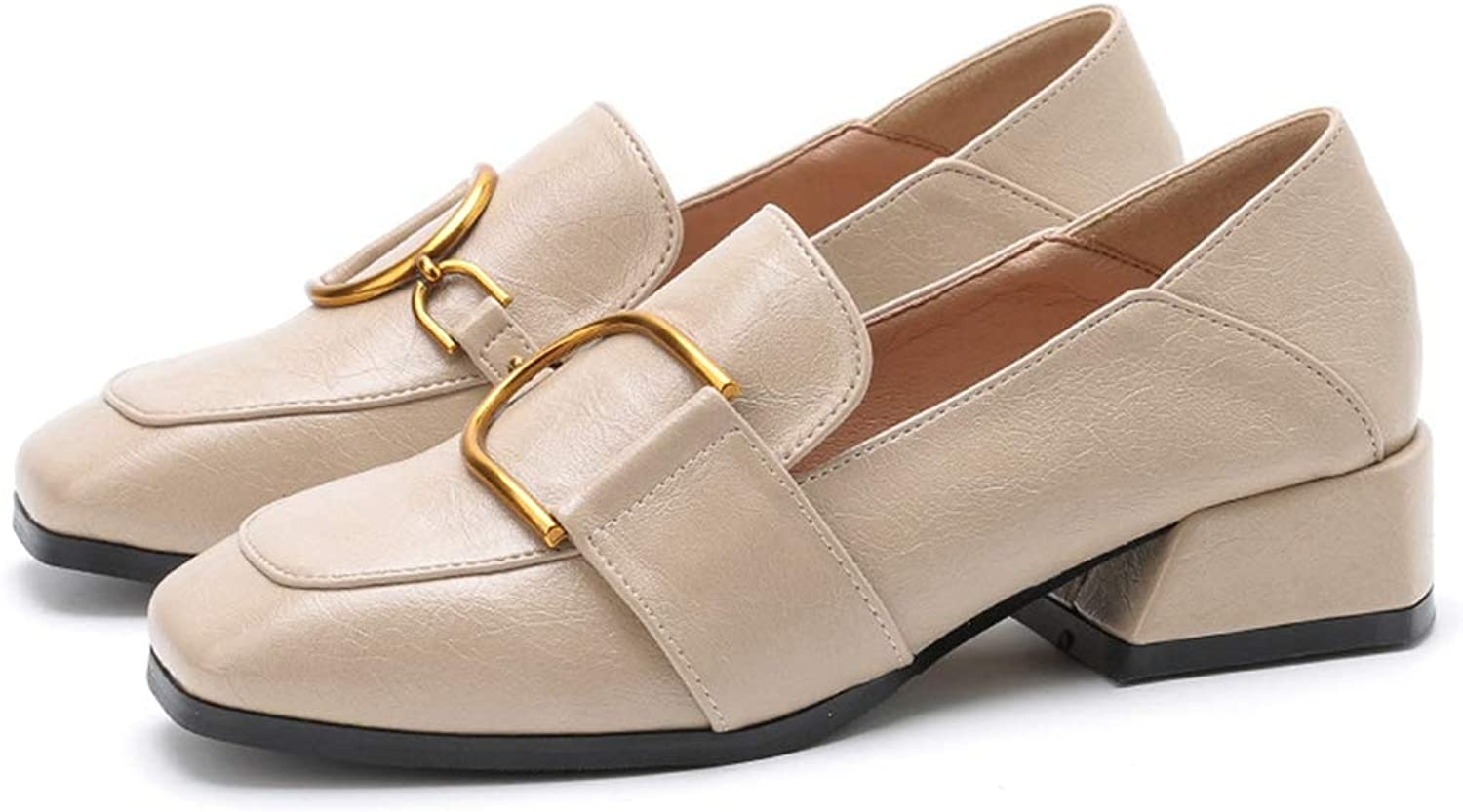 CYBLING Women's Penny Loafers Flat Low Heel Comfort Buckle Slip On Oxford shoes