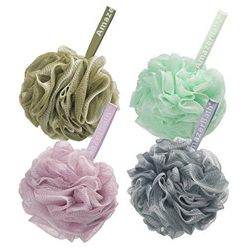 AmazerBath Shower Bath Sponge Shower Loofahs Balls