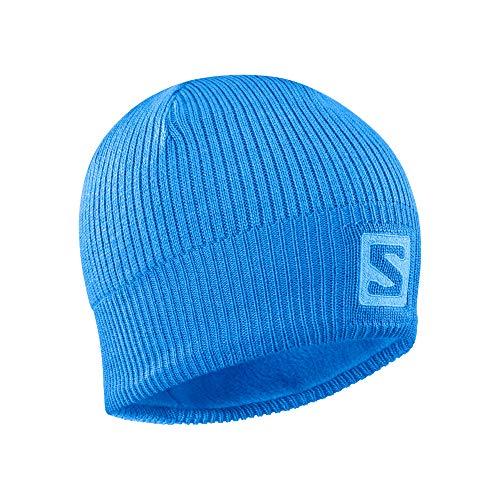 Salomon, Unisex-Mütze, Für Langlauf und Wandern, LOGO BEANIE, Blau (Indigo Bunting), Einheitsgröße, LC1420800