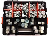 158 PC Hydraulic Deluxe Cap & Plug Kit. 64 JIC, 64 Flat Face/Face Seal, 30 NPT (Pipe)....