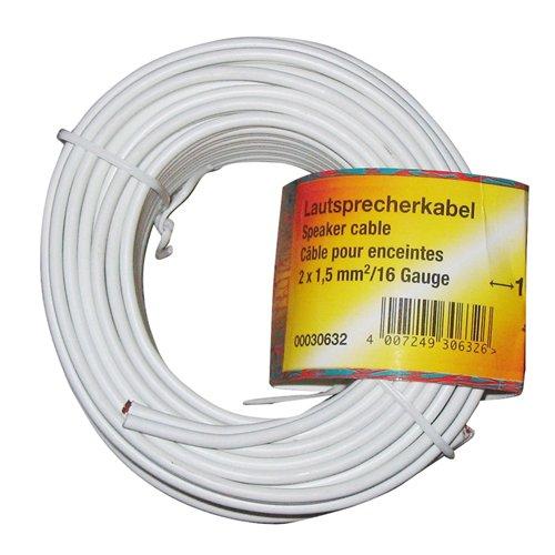 Hama - Cable de altavoz (2 x 1,5 mm², 10 m)