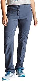 Dare 2b Women's DWJ409L 5PF08L Melodic II' Stretch Water Repellent Multiple Pockets Walking Trousers, Quarry Grey, Size 8