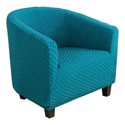 Cysincos Sesselhusse Stretch Cocktailsessel Hussen, Sesselschoner Couch Überwurf Sesselbezug Sesselüberwurf elastisch Sessel Überzug Elch Weihnachten Muster für Cafe Loungesessel (Kariert-grün)