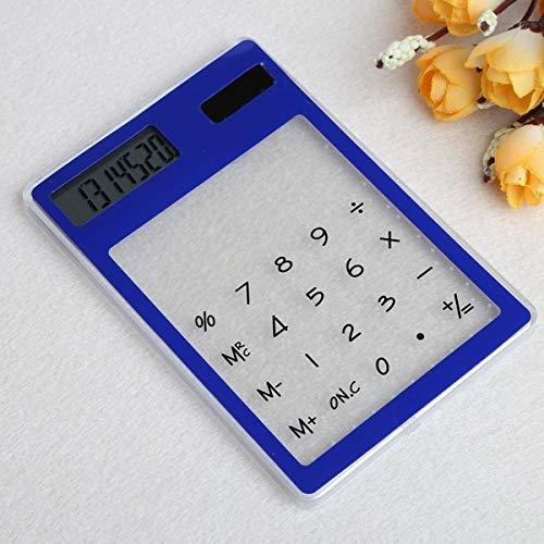 uyhghjhb Taschenrechner, Touchscreen, ultradünn, solarbetrieben, LCD-Display multi