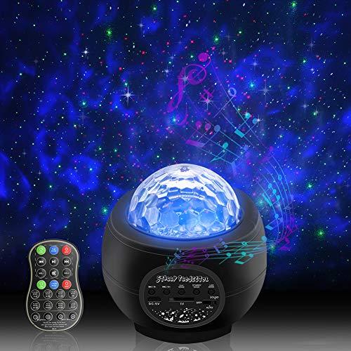 Qwoo スタープロジェクターライト 星空ライト プラネタリウム 天井 投影ランプ 【32種点灯モード・6段階輝度調整・リモコン式・音声制御 ・Bluetooth/TFカード対応】子供 寝かしつけ用おもちゃ/雰囲気作り/クリスマス ハロウィン パーテイー飾