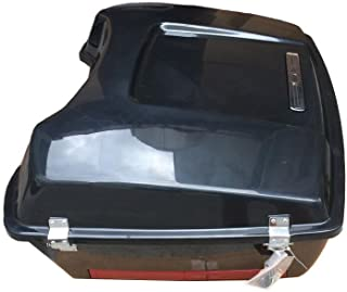 TJMOTO Unpainted Black Chopped Tour Pak Pack Trunk w/Backrest For Harley Touring Road King Electra Glide 1997-2013