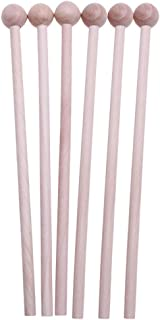 Tomaibaby 6Pcs Wood Mallets Percussion Sticks Percussion Mallets for Instrument Home DIY Music
