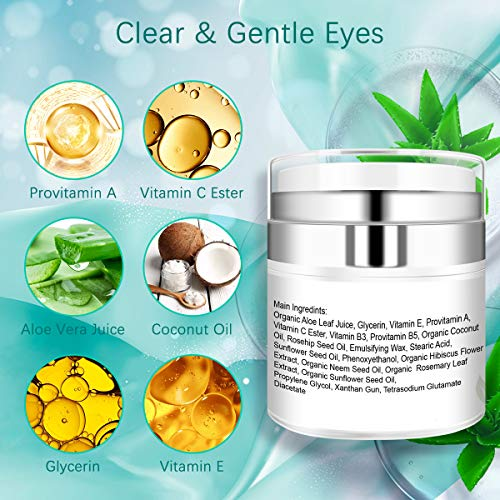 51IdmNUPOIL - Under Eye Cream - Eye Repair Cream for Anti Aging, Dark Circles & Puffiness Eye Bag Treatment with Retinol, AloeVitamin C & E Eye Repair Cream for Men Or Women's Eye Moisturizer