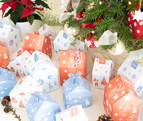 Dein Gastgeschenk Adventskalender Häuser - Weihnachtsdorf - zum Befüllen
