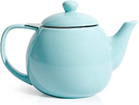 Sweese 221.102 Teapot, Porcelain Tea Pot with Stainless Steel Infuser, Blooming &..