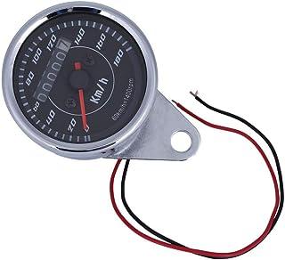 Odómetro Velocímetro Doble Pantalla, Cuentakilómetros universal de la motocicleta Calibradores con luz de doble color LED km/h para motocicletas