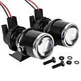 2PCS 55W H3 2400LM Universal Fog Light Projector Halogen Bulb Lamp Car Auto Lens w/ Mounting Bracket Set