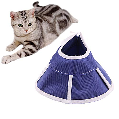 ASOCEA Adjustable Pet Comfy Cone Soft Cats Dogs Recovery Collar for Anti-Biting Lick Wound Healing Grooming Medication