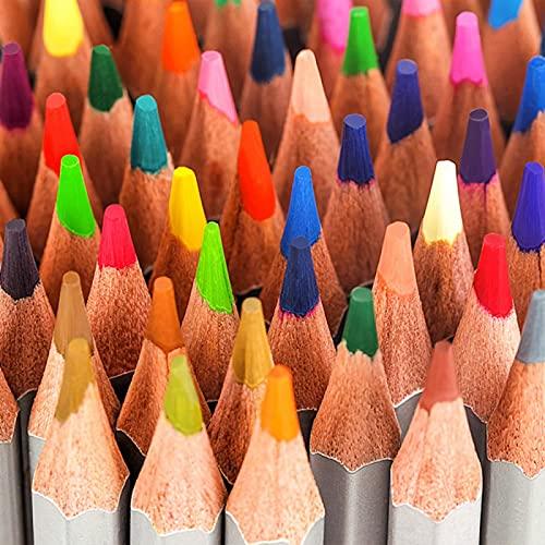 LUOLUOSM Lápices para Colorear, lápices de Colores, solubles en Agua, Color aceitoso, bolígrafo Pintado a Mano, Adulto, niño, 72 Colores, Pintura para Estudiantes