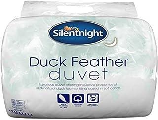 Silentnight Couette en Plumes de Canard pour lit Double Coton 10,5tog Blanc, Coton, Blanc, King