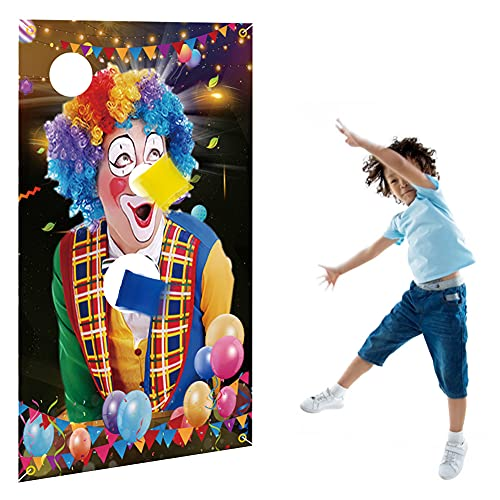 HCJX Toss Bean Bag Games, Halloween Indoor Outdoor Throwing Games Fun Carnival Outdoor Game for Kids Adults with 3 Cute Bean Bags for Kids Party Favors