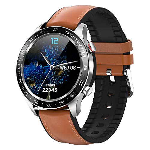 Smart Watch for Android Phones, Smartwatch with Heart Rate and Blood Pressure Monitor for Men, Fitness Watch with Waterproof, Full Touch Screen, Pedometer for Women, Compatible for Samsung iOS(Brown)
