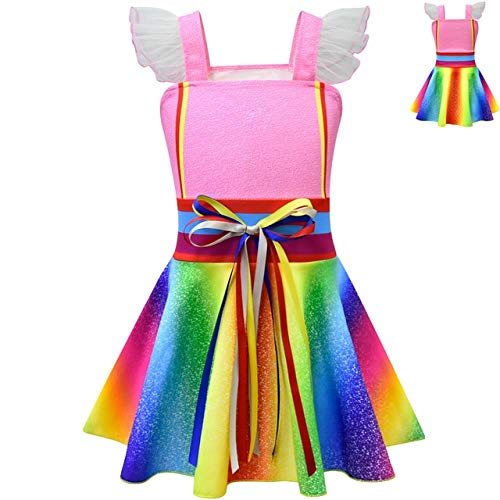 EQWR Girls Fancy Dress Party Nancy Cosplay disfraz fancy nancy Clancy Kids Wedding Birthday Party Princess Dress Mask Wings Set S Como se muestra