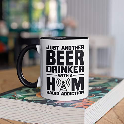 DKISEE Taza divertida para operador de radio de jamón de cerveza, tazas, regalos para operadores de radio, regalo, taza de campamento, vaso