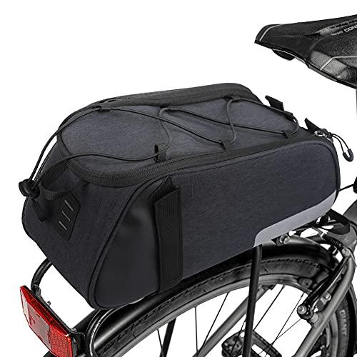 LINGSFIRE Bici Borsa Posteriore Cremagliera Pacchetto Zaino Multifunzionale Borsa Posteriore Bici Custodia Impermeabile per Sacchetto Impermeabile 7L con Tracolla per Mountain Bike Bicicletta MTB