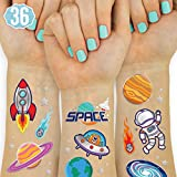 xo, Fetti Space + Planets Temporary Tattoos for Kids - 36 Glitter styles   Alien Birthday Party Supplies, Astronaut Favors + Rocketship Decorations