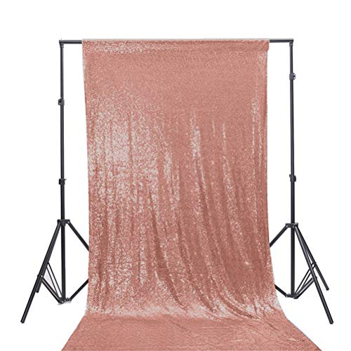 TRLYC 4Ft7Ft Blush Ceremony Background Sequin Backdrop for Wedding Fabric