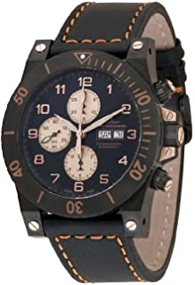 Zeno - Watch Reloj Mujer - Muscle Retro Chrono Black - 8023TVDD-bk-e1
