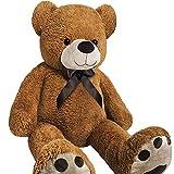 Grand nounours Ours en peluche géant brun Teddy Bear 100 cm Doux moelleux