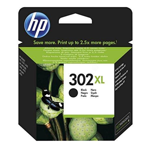 HP Original–HP–Hewlett Packard Deskjet 1110(302x l/f6u68ae # 301)–Cartucho de tinta Negro–8,5ml