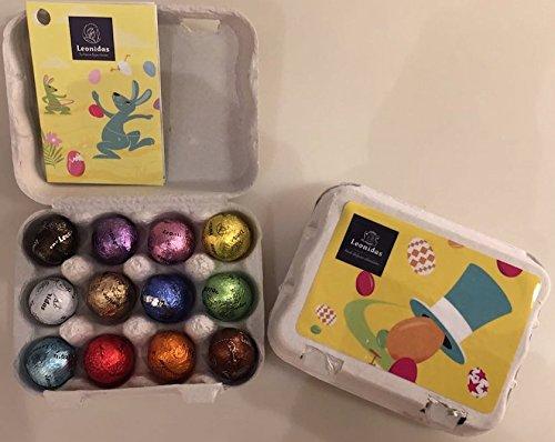 2*12 Pralinen - Eier im Eierkarton / bunte Mischung zu Ostern / Pistazie Nougat Himbeere Zitrone Karamell Cuberdon Oreo
