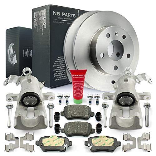 Bremsen/2x Bremssattel + Bremsscheiben + Bremsbeläge hinten NB PARTS GERMANY 10058535