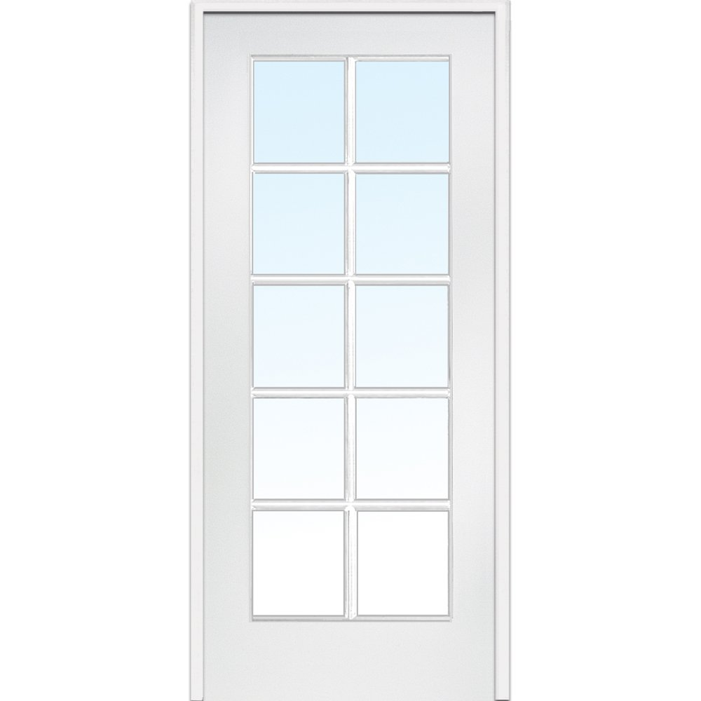 National Door Company ZZ09303R Primed 25% OFF MDF Clear Max 72% OFF 10 Glass R Lite