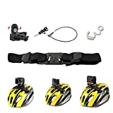 PellKing Vented Helmet Strap Mount for GoPro Hero 10/9/8/7/6/5 Black,Mountain Cycling Accessories Adjustable Bike Helmet Strap Head Belt Holder for DJI Osmo Action Camera,Insta360 One R,Akaso,and More