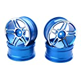 Homyl 4 Stücke Aluminium Wheels Felgen Ersatzteile für 1/10 Rc Modell On-Road Racing Drift Auto