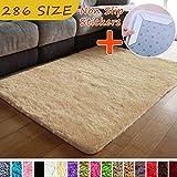 MODKOY alfombras Dormitorio Juvenil Tela Lavable Tejidas Shaggy Ultra Suave Cesped Artificial Pelo Inofensivo para Cocina Baño Exterior Salon Grandes 40x70cm Camello
