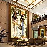 Tapeten Wandbild Aufkleberbenutzerdefinierte Alte Ägyptische Fototapete Ägyptische Figuren Große Wandbilder Wohnzimmer Restaurant Flur Wandbild Vliespapier