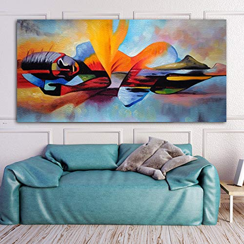 Watercolor Master Buddha Abstract Oil Painting on Canvas Religious Poster and Print Wall Art Image Frameless Painting 50X100CM