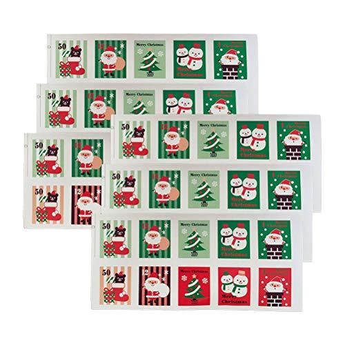 SUPVOX 100 pezzi adesivo per francobolli natalizi adesivo autoadesivo regalo di natale decorazione per sigilli confezione da forno etichette per imballaggio sigilli buste