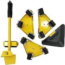 Meubellifter met 4 Pack bewegende schuifregelaars, meubels bewegende rolset, zware meubels rolverplaatsingsgereedschap, ma...
