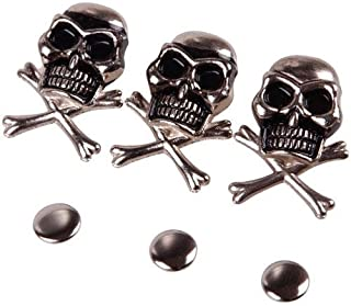 10Pcs 15mm Cool Skull Ghost Rivet Stud Punk for Bracelet Bag Leather DIY Craft
