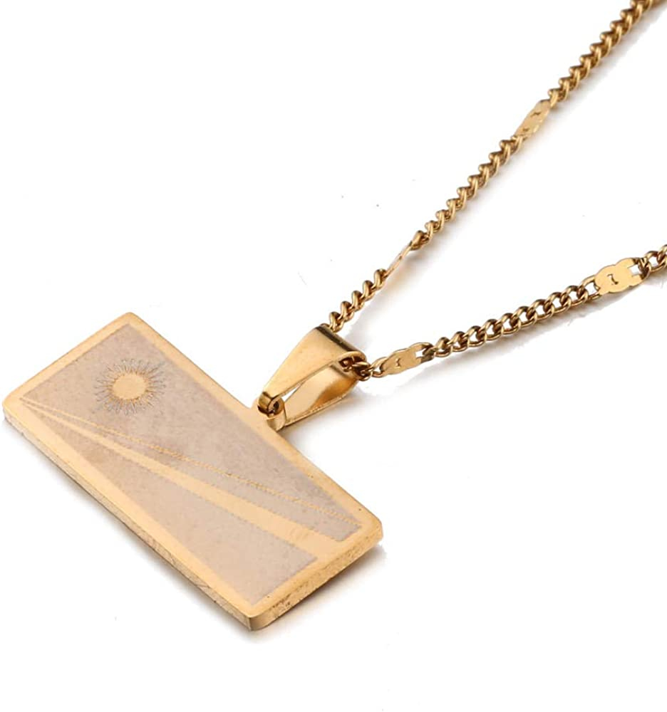 Trendy Stainless Steel Necklace Marshall Island Map Charm Jewelry Necklace