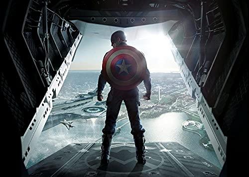 ZPDWT Puzzle de 1000 Piezas,Capitán América: El Soldado del Invierno Rompecabezas Juguetes educativos difíciles para Adultos a Gran Escala Regalos creativos para niños y niñas,de Madera,75x50cm