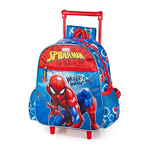 Zaino Asilo con Trolley Spiderman Marvel 2 Ruote Manico ALLUNGABILE-40416C