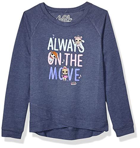 LOL Surprise Girls T-Shirt, Denim, Medium