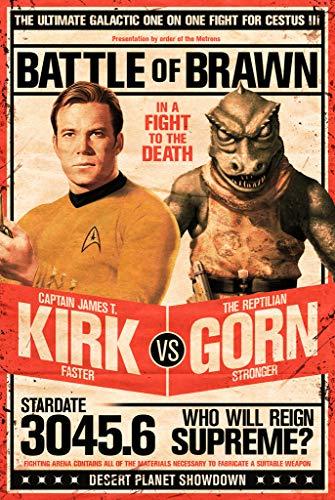"LLP Star Trek Poster - Captain Kirk vs The Reptilian Gorn (24""x36"")"